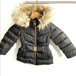 Michael Kors size 2t black belted puffer coat